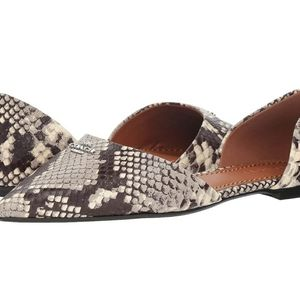 New Coach printed exotic pointy toe flat Size 9